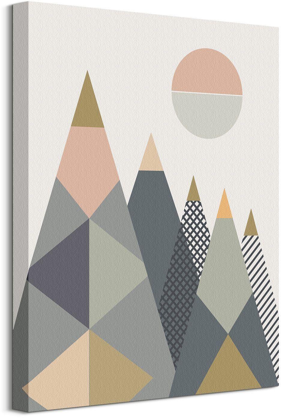 Kolorowe góry - obraz na płótnie