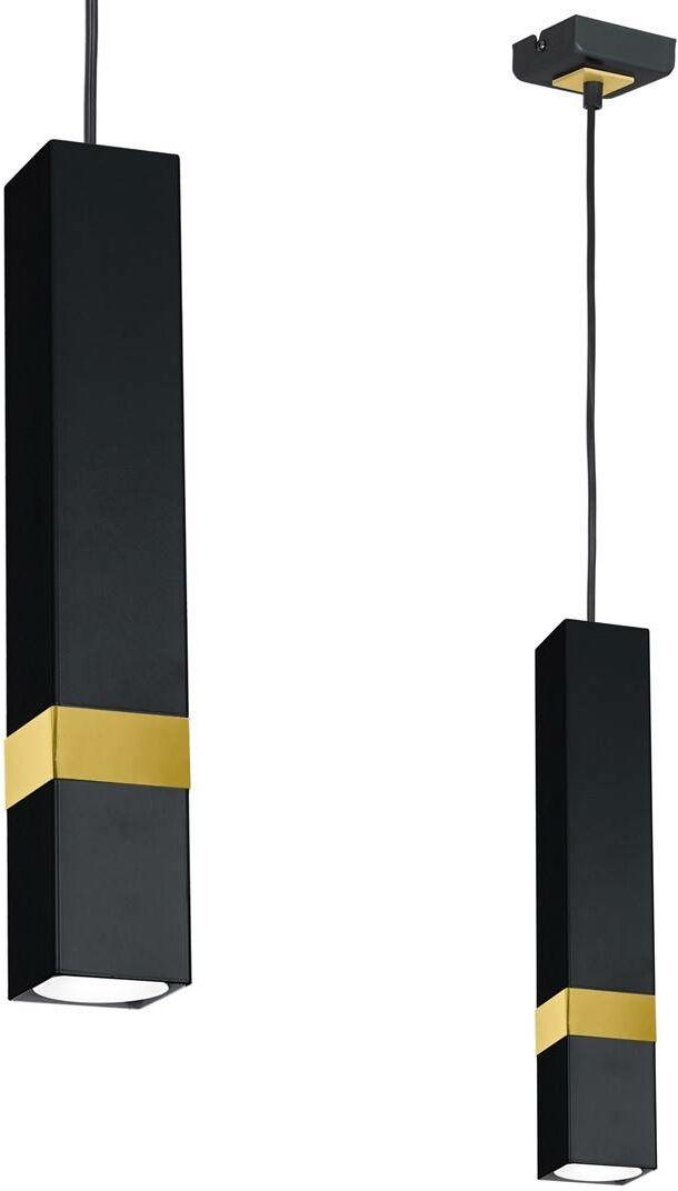 Lampa wisząca VIDAR BLACK/GOLD 1xGU10