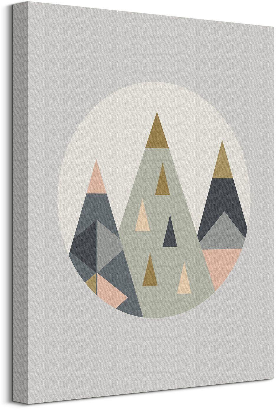 Trójkątne góry - obraz na płótnie