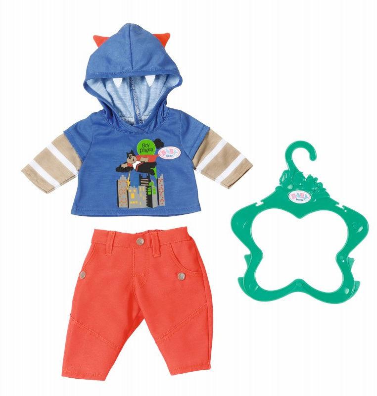 BABY Born - Ubranko chłopięce z niebieską bluzą 824535 B