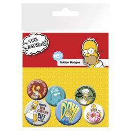 Simpsonowie - zestaw przypinek