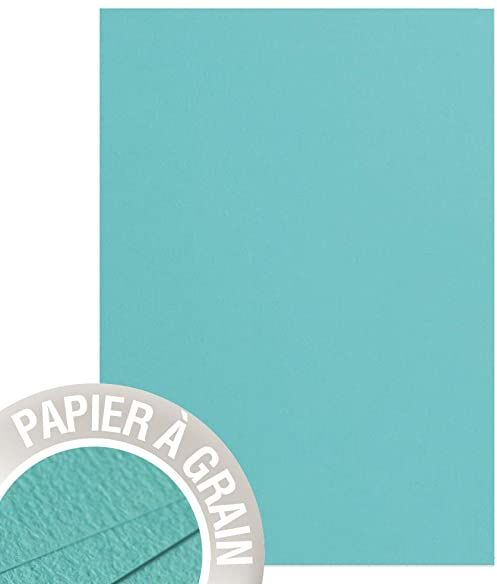 Clairefontaine papier ziarnisty, A4, 210 gsm - Seagreen, 25 arkuszy