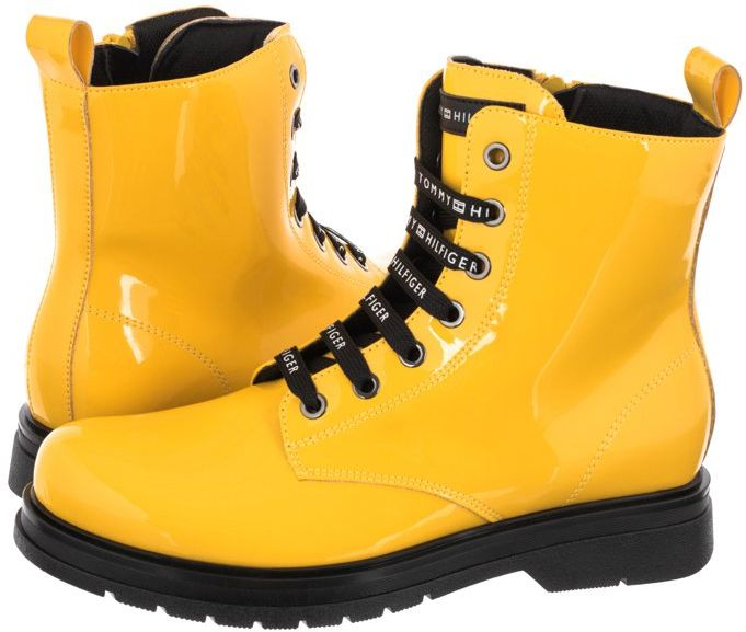 Glany Tommy Hilfiger Lace-Up Bootie T4A5-32011-0775 200 Yellow (TH255-a)
