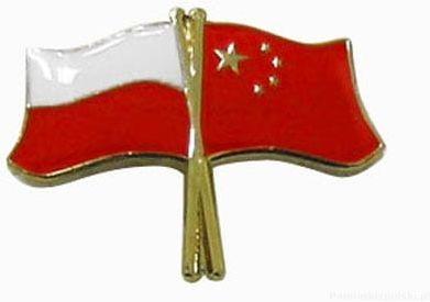 Flaga Polska - Chiny