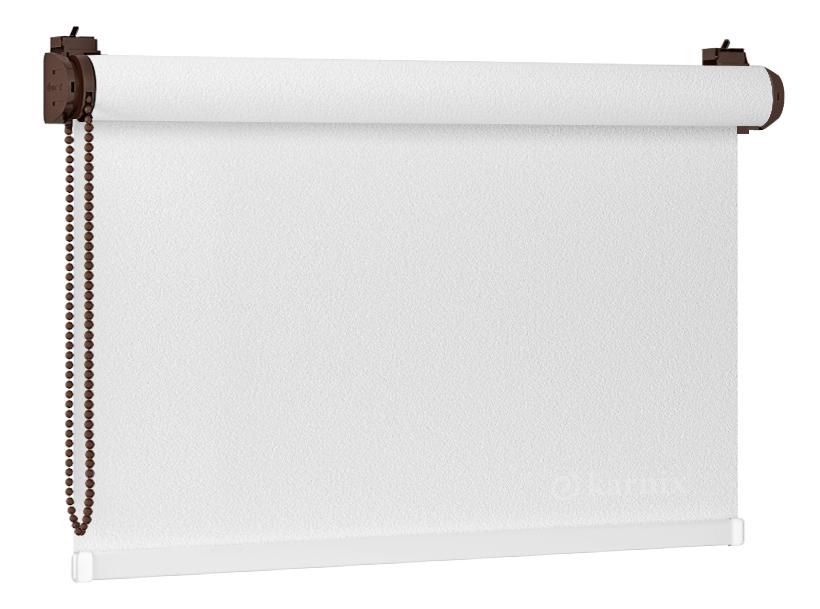 Roleta Bezinwazyjna Mini PEARL - Biały / Brązowy