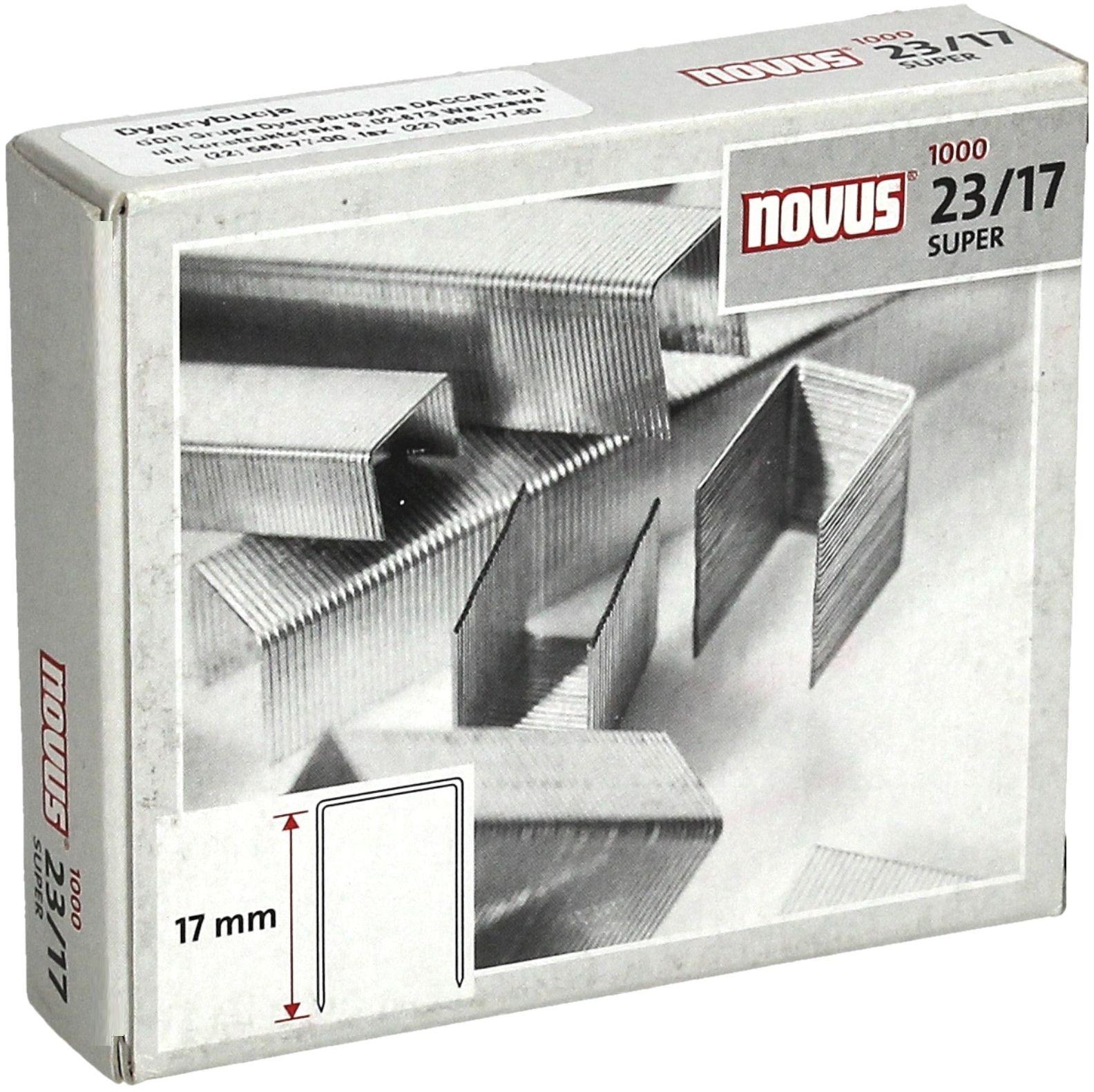 Zszywki 23/17 cynkowe (1000) HD Novus