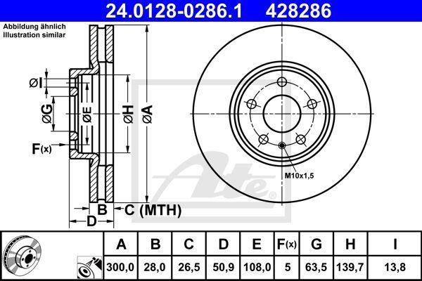 tarcze hamulcowe Ford Mondeo Mk5 przód - ATE 24.0128-0286.1