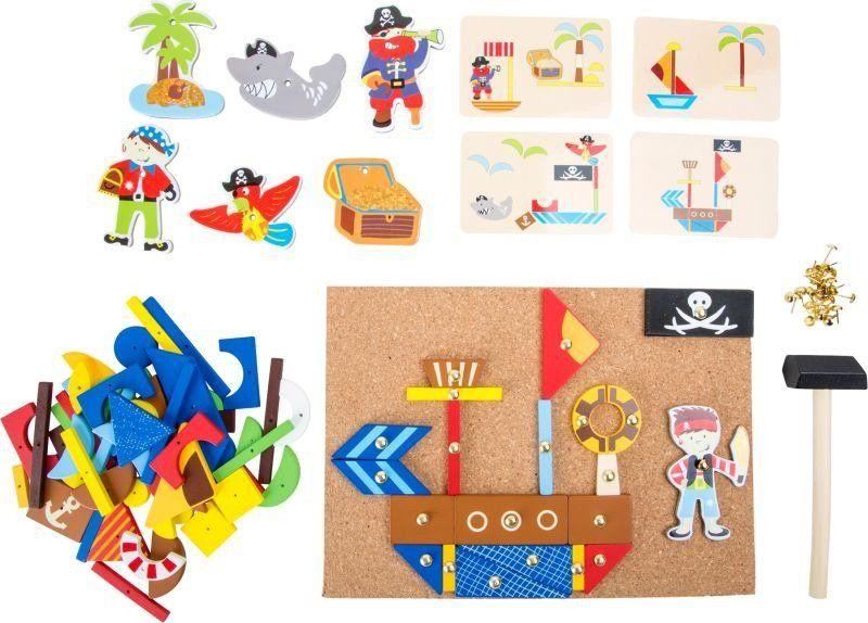 Przybijanka, Piracka wyspa, 10226-Small Foot, zabawka kreatywna