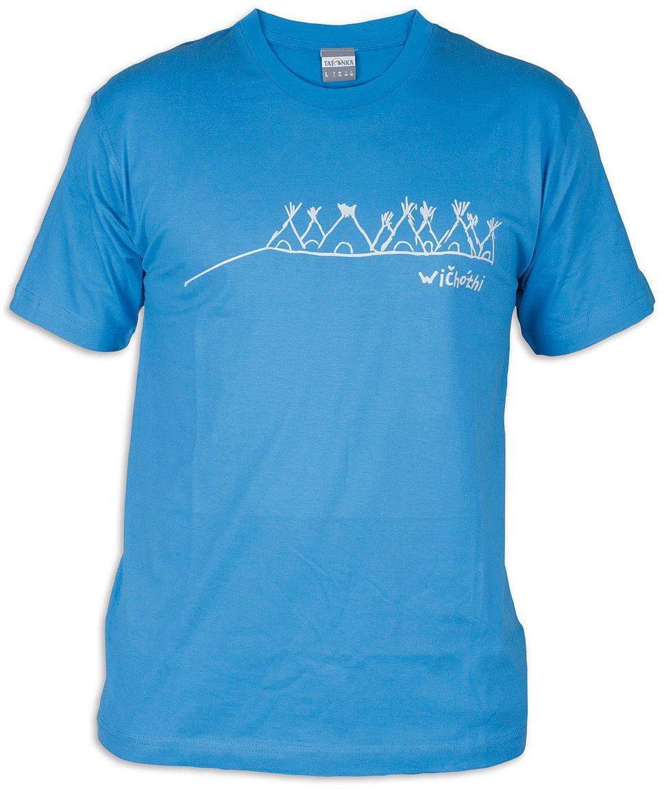 Tatonka Męski T-shirt Wichothi niebieski błękit francuski XL