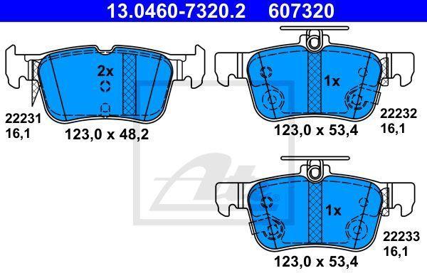 klocki hamulcowe Mondeo Mk5  S-Max  Galaxy  Edge tył 13.0460-7320.2