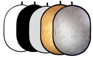 Blenda 5w1 - 90x120cm Owalna (złotą, srebrną, białą, czarną, dyfuzor)