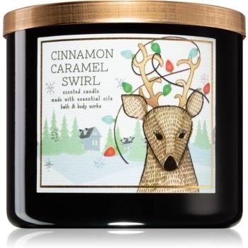 Bath & Body Works Cinnamon Caramel Swirl świeczka zapachowa II. 411 g