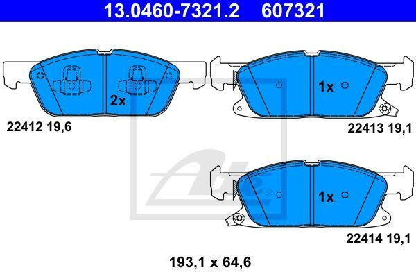klocki hamulcowe S-Max  Galaxy  Edge - kpl. przód ATE 13.0460-7321.2