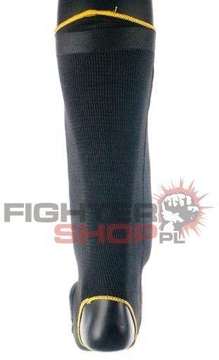 Ochraniacz piszczeli i stopy BLACK Professional Fighter