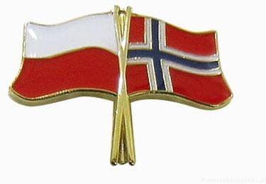 Flaga Polska - Norwegia