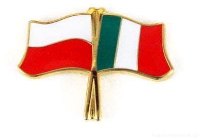 Flaga Polska - Włochy