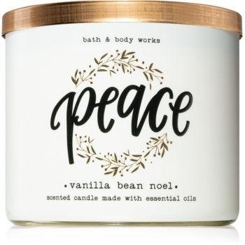 Bath & Body Works Vanilla Bean Noel świeczka zapachowa z olejkami eterycznymi II. 411 g