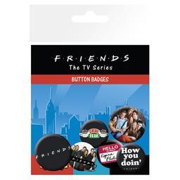 Przyjaciele - zestaw przypinek