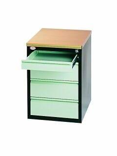 Kontenerek szafka przybiurkowa SZP 404 4 szuflady na klucz H 62cm