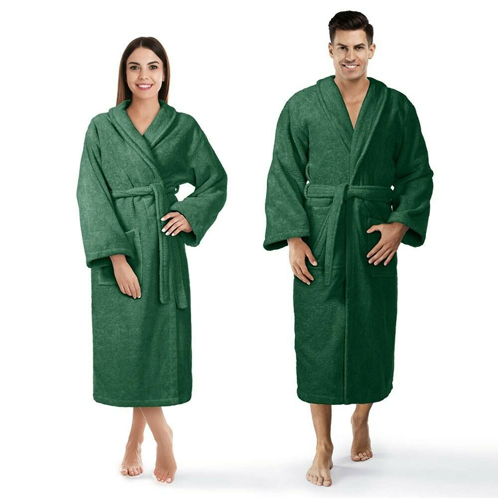 Szlafrok frotte Prestiż XS zielony butelkowy bawełniany hotelowy 450g/m2