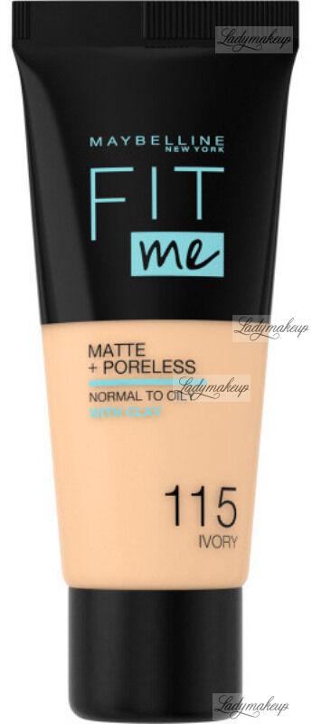 MAYBELLINE - FIT ME! Liquid Foundation For Normal To Oily Skin With Clay - Podkład matujący do twarzy z glinką - 115 IVORY