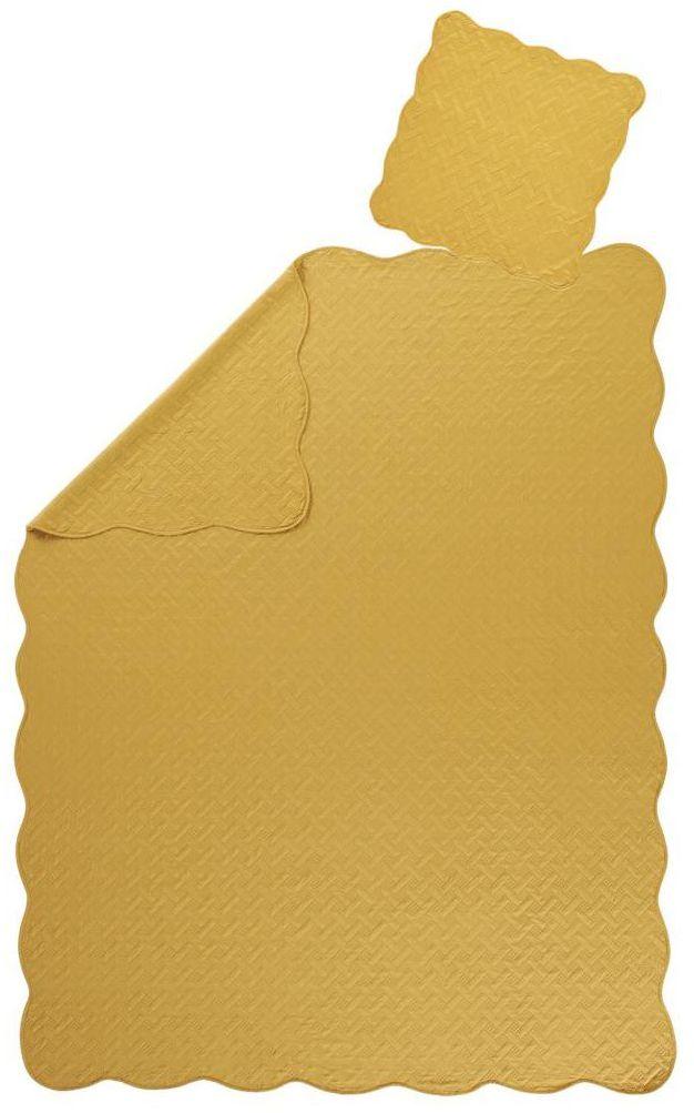 Narzuta CALIFORNIE żółta 180 x 240 cm