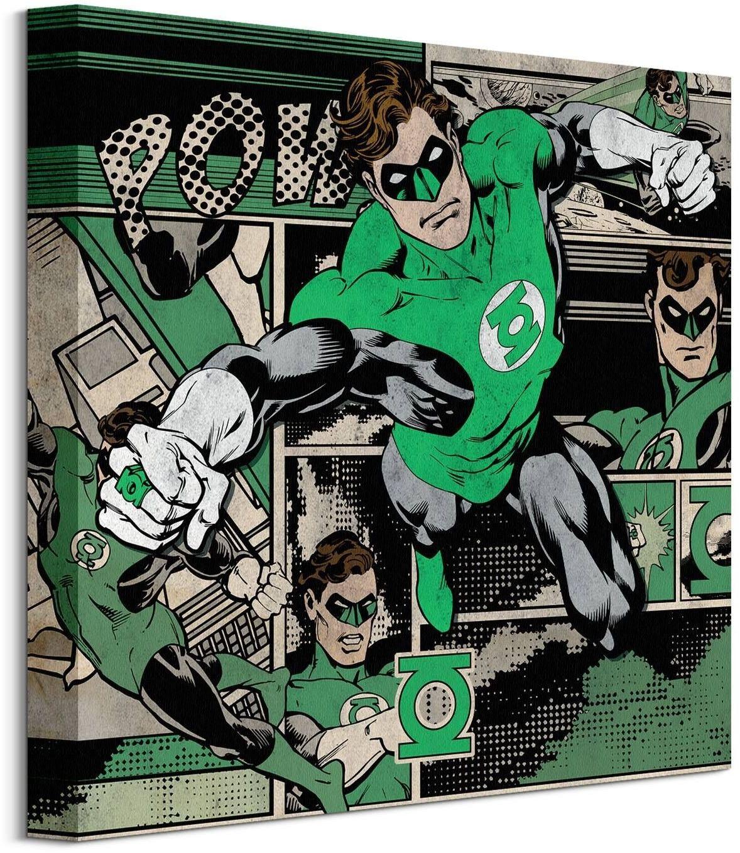 Zielona latarnia komiks - obraz na płótnie