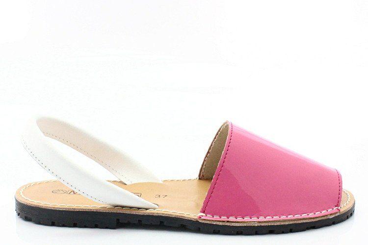 Hiszpańskie skórzane sandały minorki - MARIETTAS 550 RÓŻOWE