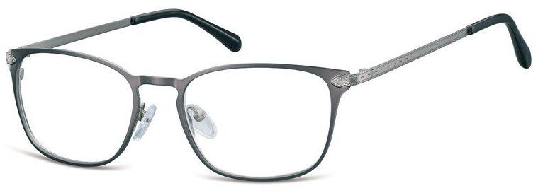 Oprawki okularowe kocie oczy damskie stalowe Sunoptic 991B grafitowe
