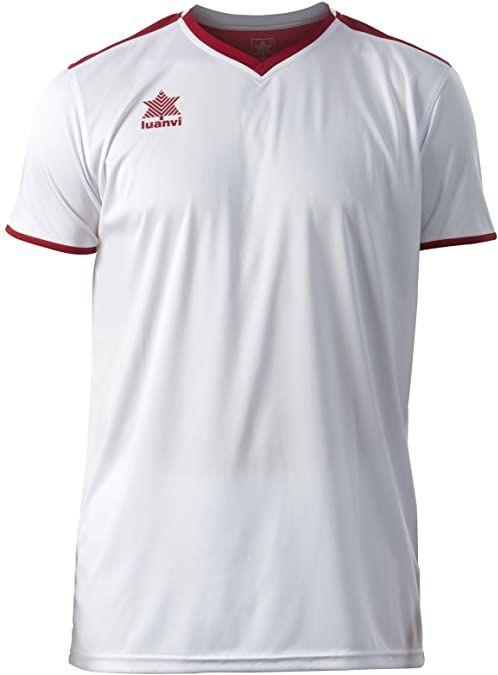 Luanvi Męski T-shirt Match z krótkimi rękawami. biały Weiß (0002) XL