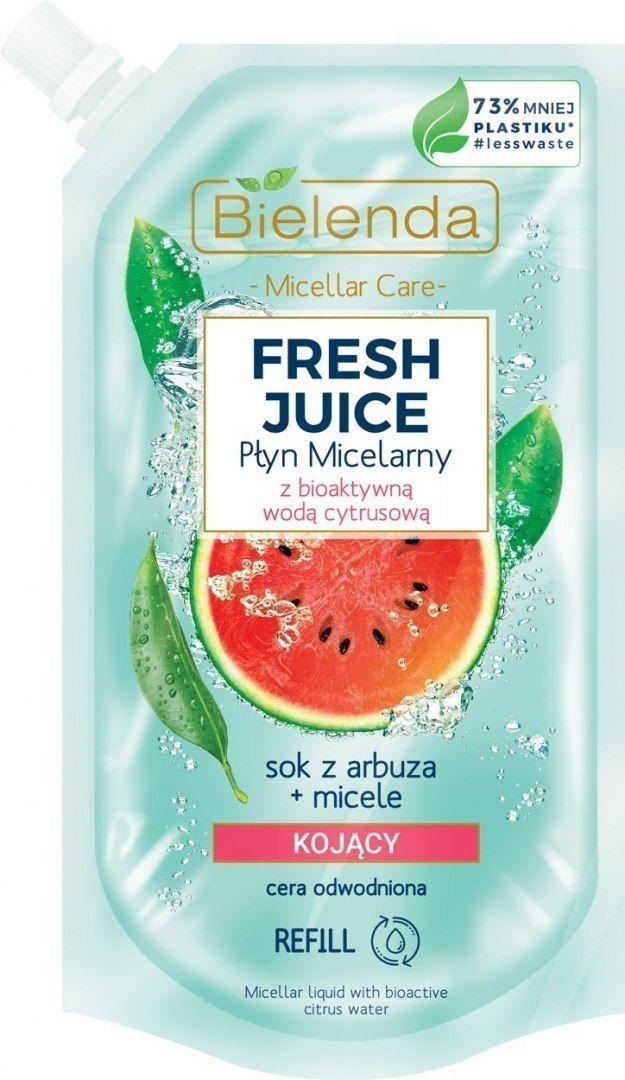 Bielenda Bielenda Fresh Juice Płyn micelarny kojący z wodą cytrusową Arbuz 500ml - doypack