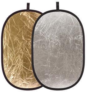 Blenda 2w1 - 120x180cm Owalna (srebrno-złota)