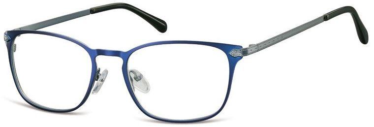 Oprawki okularowe kocie oczy damskie stalowe Sunoptic 991C granatowe