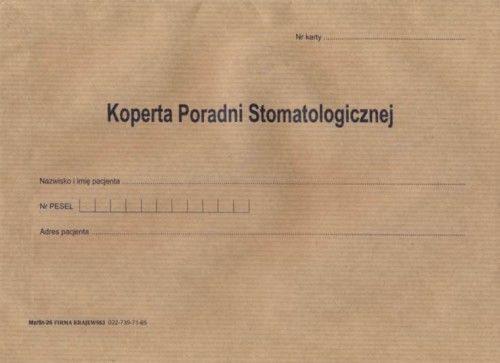 Koperta poradni stomatologicznej / 100 szt [Mz/St-26]