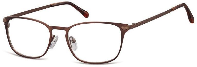 Oprawki okularowe kocie oczy damskie stalowe Sunoptic 991D brazowe