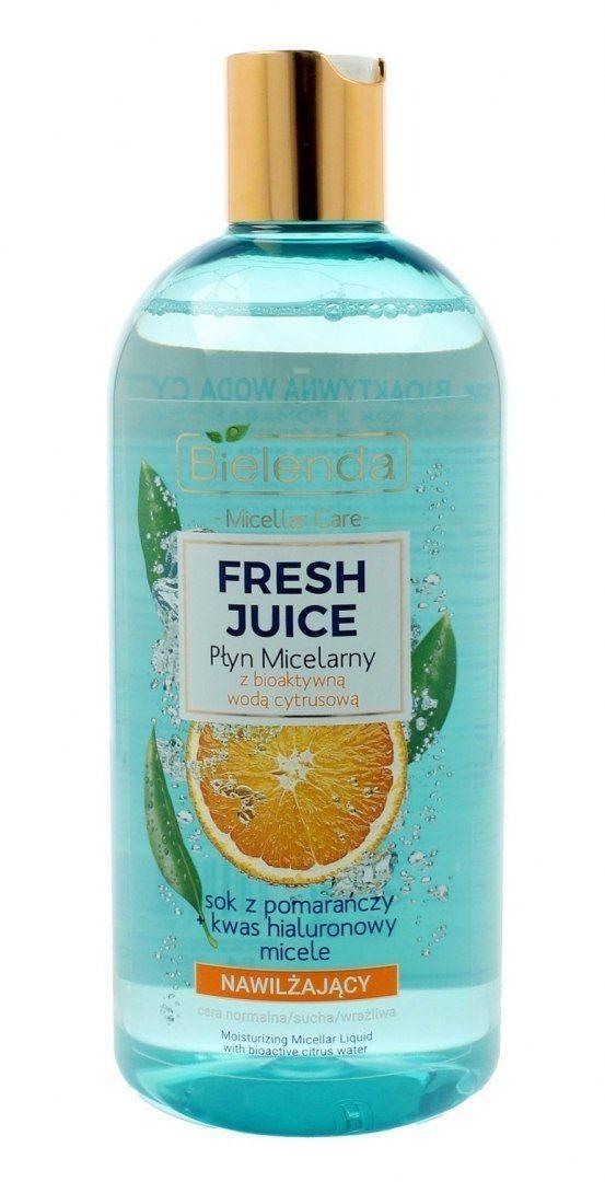 Bielenda Bielenda Fresh Juice Płyn micelarny nawilżający z wodą cytrusową Pomarańcza 500ml