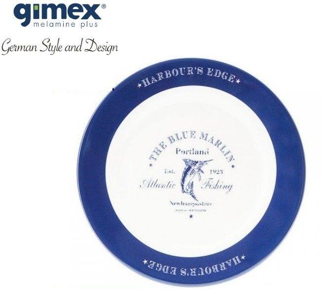 Talerz obiadowy antypoślizgowy Blue Marlin 1szt - Gimex