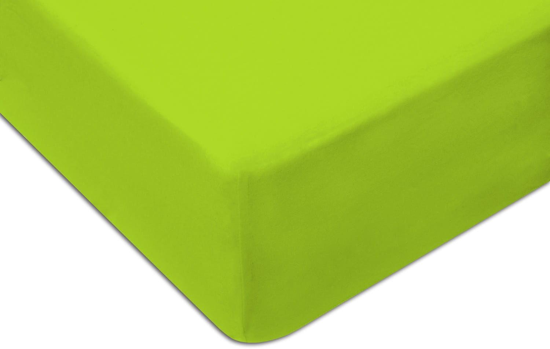 Prześcieradło Jersey 220x200 z gumką jasno zielone