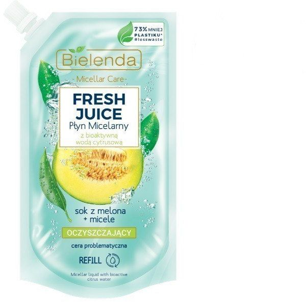 Bielenda Bielenda Fresh Juice Płyn micelarny oczyszczający z wodą cytrusową Melon 500ml - doypack