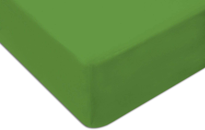 Prześcieradło Jersey 220x200 z gumką zielone