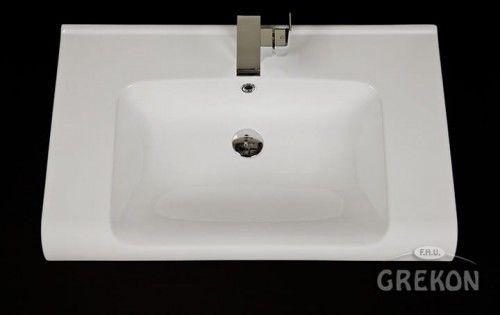 Umywalka ceramiczna Weroni 80x50cm biała, Gante