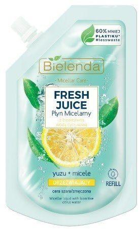 Bielenda Bielenda Fresh Juice Płyn micelarny orzeźwiający z wodą cytrusową Yuzu 45ml - doypack