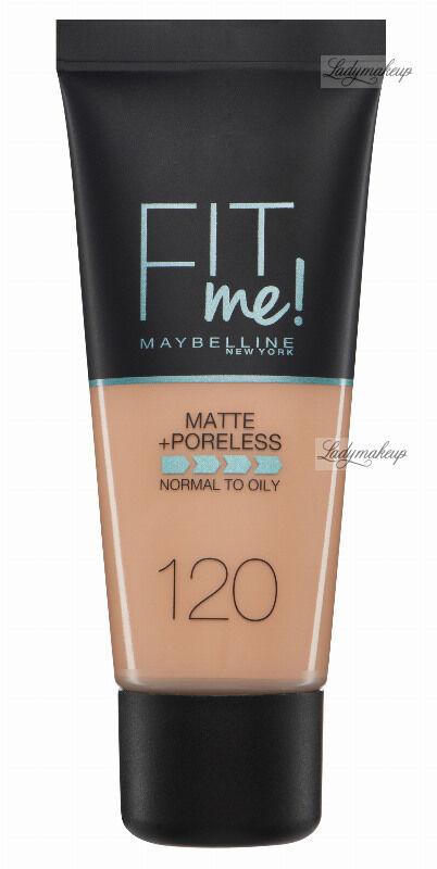 MAYBELLINE - FIT ME! Liquid Foundation For Normal To Oily Skin With Clay - Podkład matujący do twarzy z glinką - 120 CLASSIC IVORY
