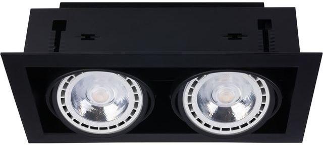 Oprawa wpuszczana Downlight ES111 9570 Nowodvorski Lighting podwójna oprawa w kolorze czarnym