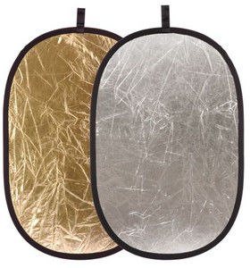 Blenda 2w1 - 90x120cm Owalna (srebrno-złota)