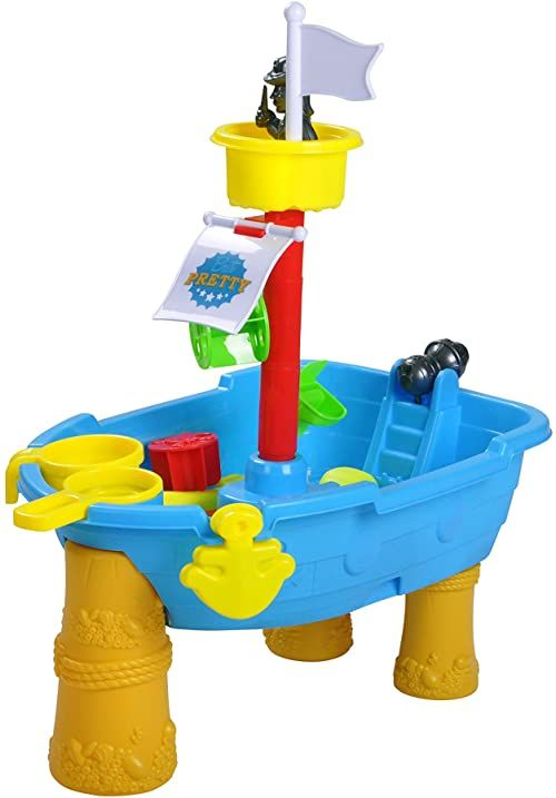 KNORRTOYS.COM 39200 statek piracki na stół piaskowy i wodny, kolorowy