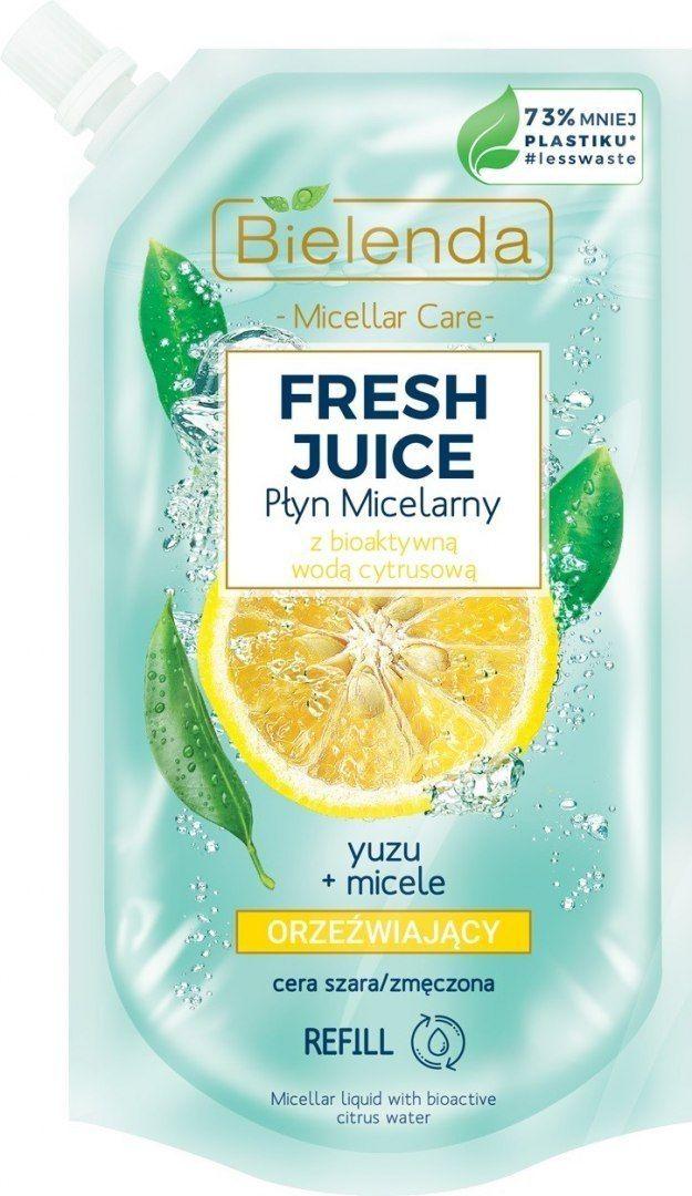 Bielenda Bielenda Fresh Juice Płyn micelarny orzeźwiający z wodą cytrusową Yuzu 500ml - doypack