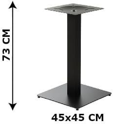 Podstawa stolika SH-5002-5/B, 45x45 cm (stelaż stolika), kolor czarny