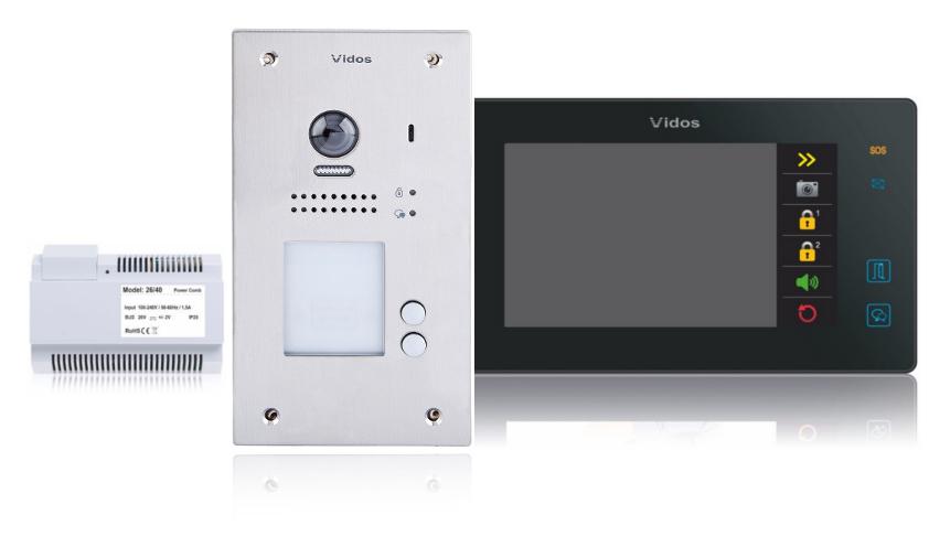 Wideodomofon 2-rodzinny vidos duo 2 x m1021b / s1202a - możliwość montażu - zadzwoń: 34 333 57 04 - 37 sklepów w całej polsce