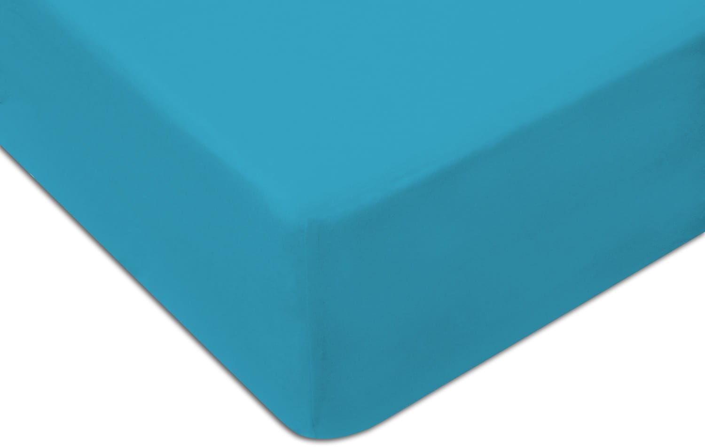 Prześcieradło Jersey 160x200 z gumką KOLOR błękitne